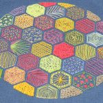 hexagon embroidery pattern