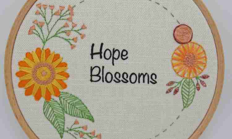 hope blossoms embroidery