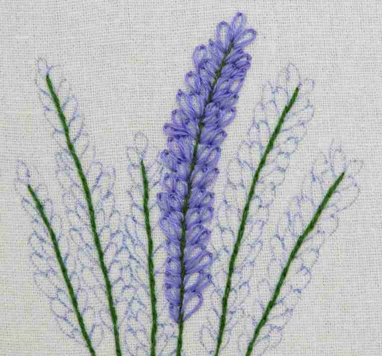 larkspur embroidery