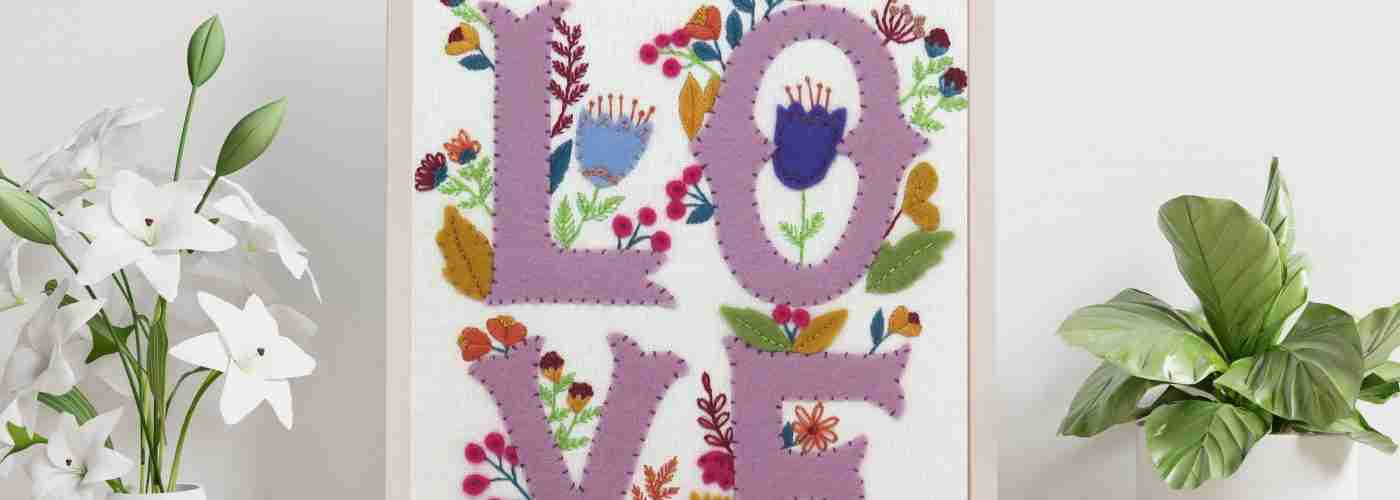 love hand embroidery pattern