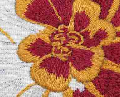 marigold flower embroidery