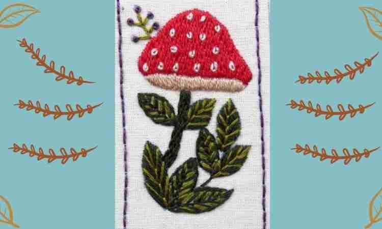 mushroom hand embroidery