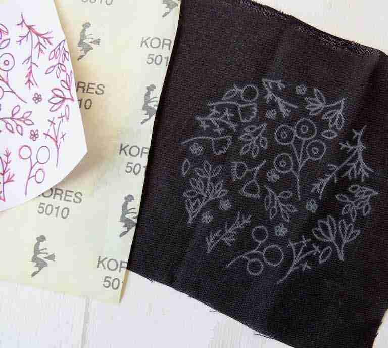 pattern on black fabric