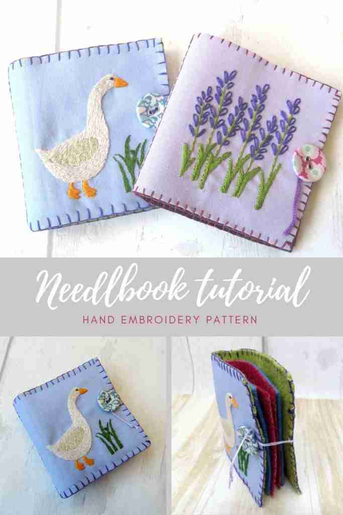 FREE hand embroidery needlebook tutorial
