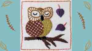hand embroidered owl tutorial
