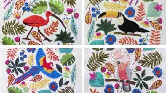tropical paradise hand embroidery patterns