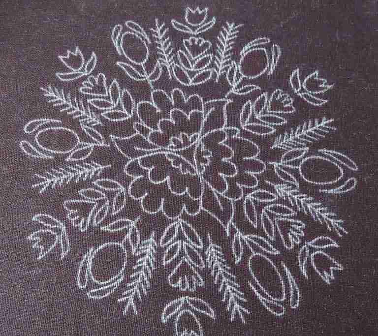 dark fabric pattern transfer