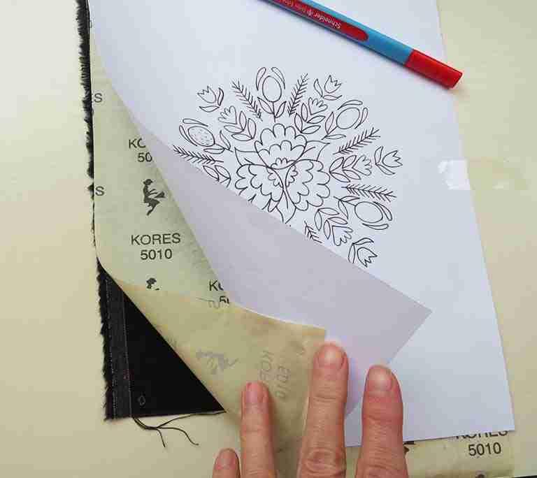 pattern transfer on dark fabric
