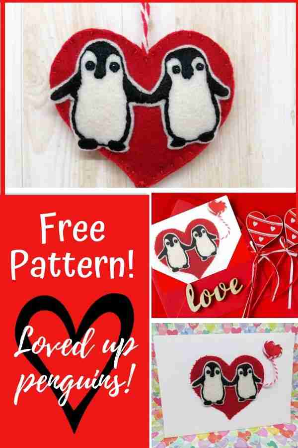 hand embroidery pattern for penguins