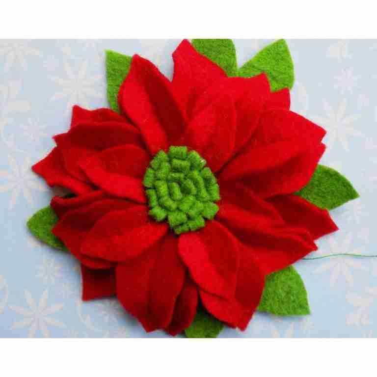 poinsettia felt pattern