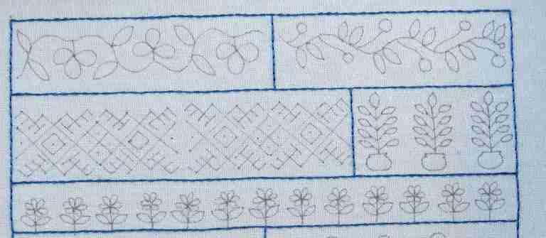 back stitch lines