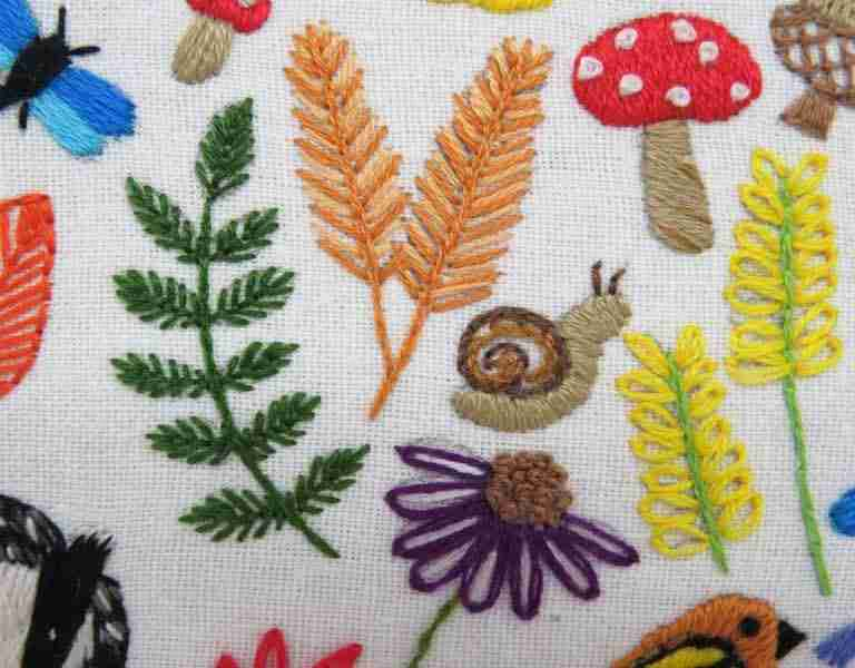 embroidered snail