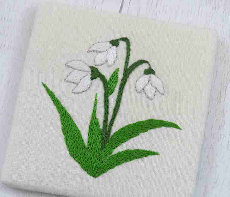 snowdrop embroidery pattern