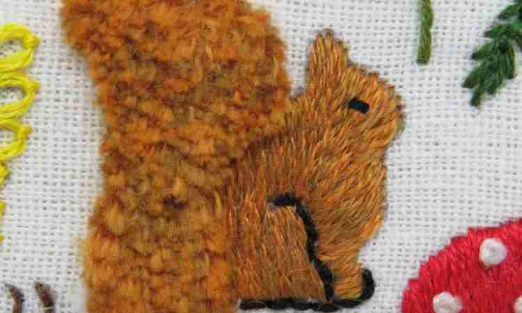 squirrel embroidery