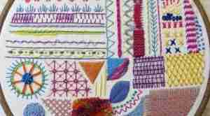 stitch hand embroidery sampler