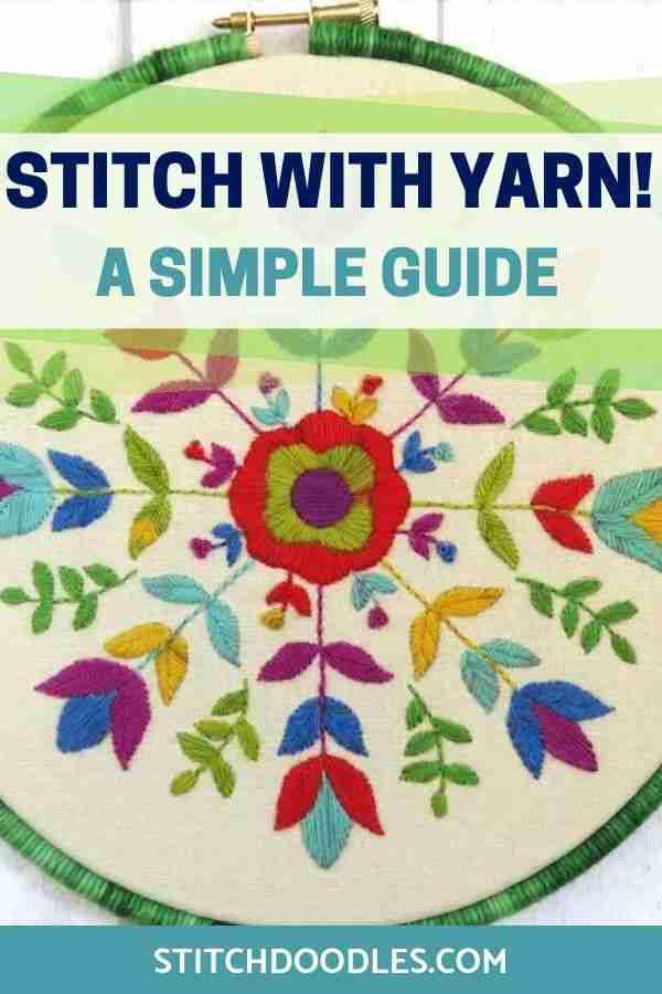 stitch with yarn