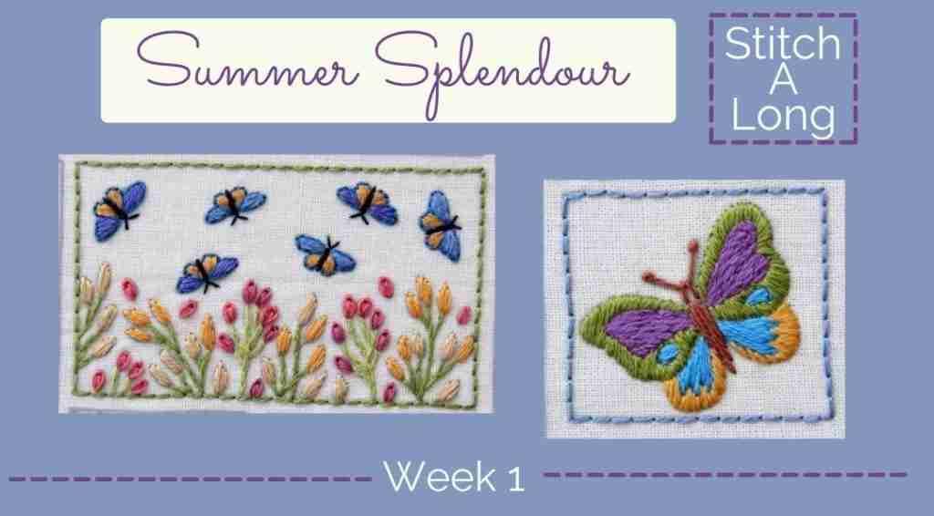 hand embroidered butterflies