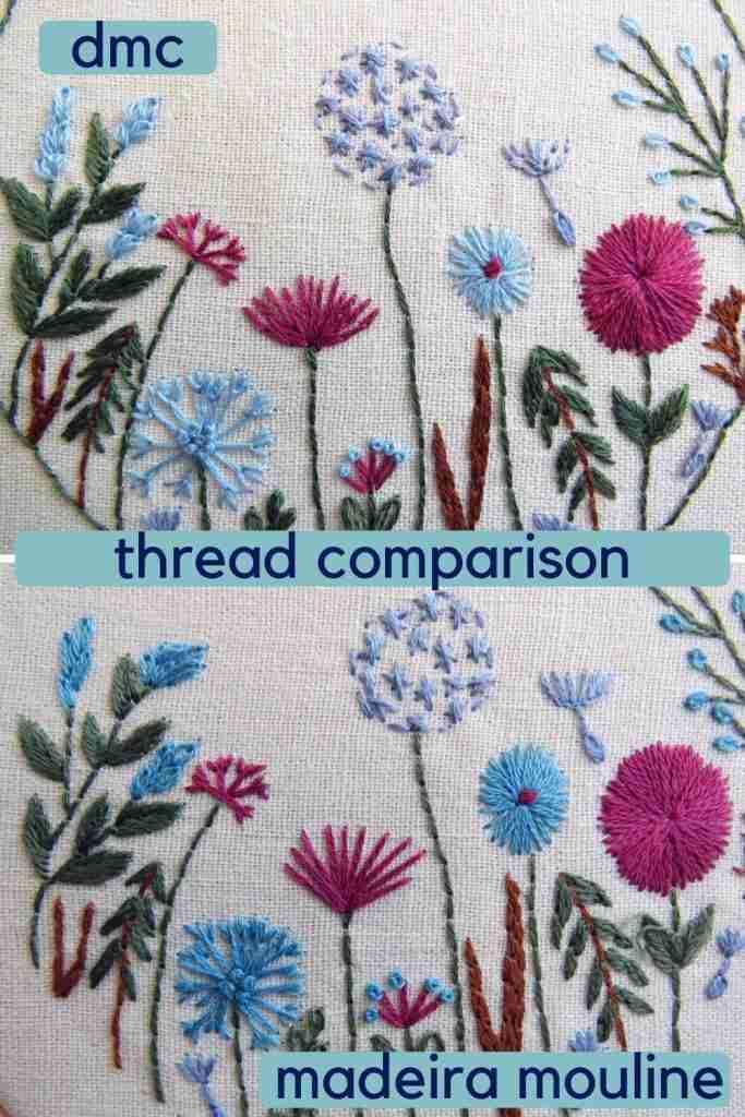 Madeira Mouline hand embroidery