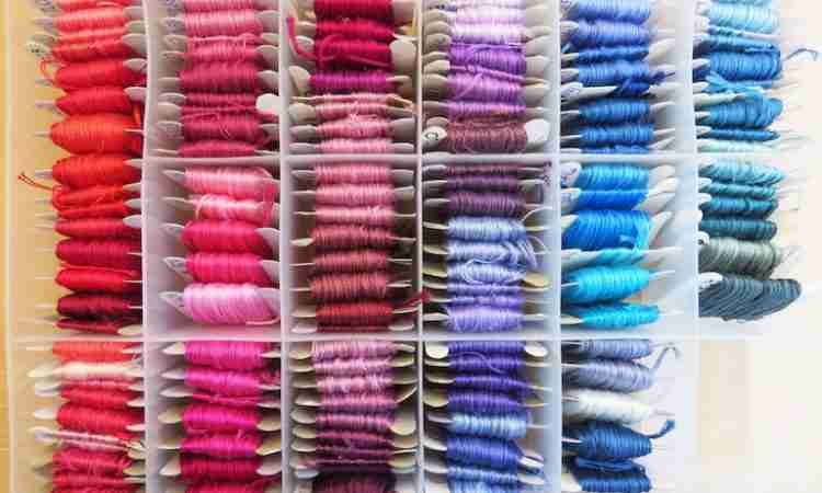 hand embroidery thread storage