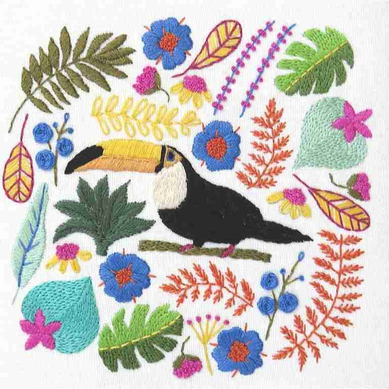 Toucan Hand Embroidery Pattern