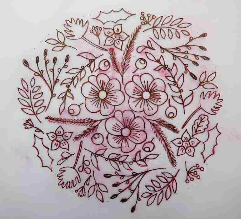 traced pattern