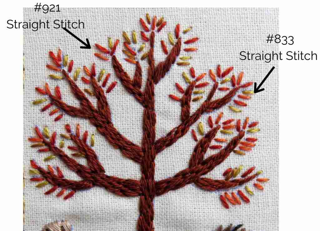hand stitched tree