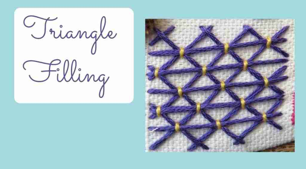 triangle filling stitch