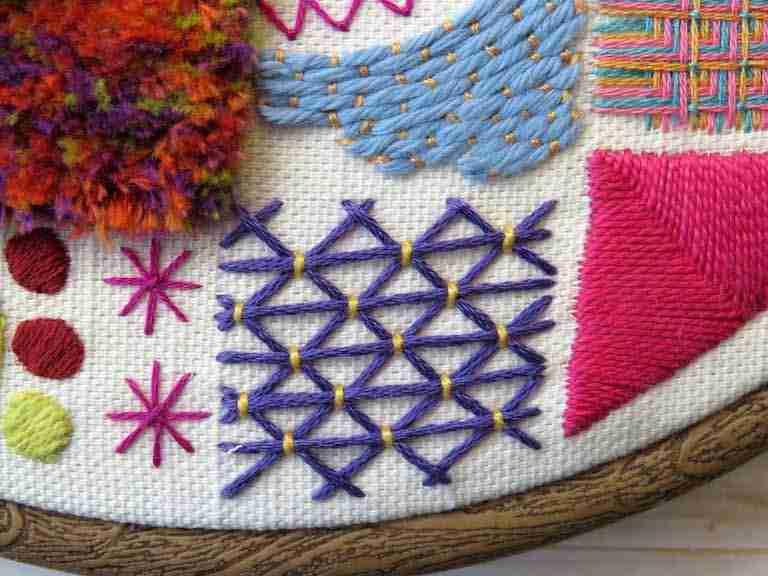 triangle filling stitch