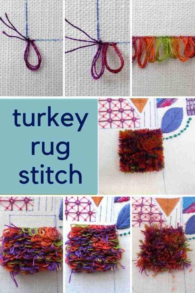 Turkey Rug Stitch Tutorial
