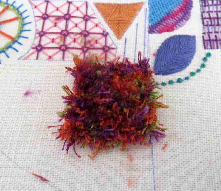 turkey rug stitch tutorial.