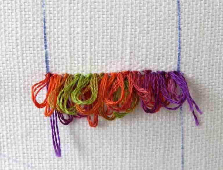 turkey rug stitch