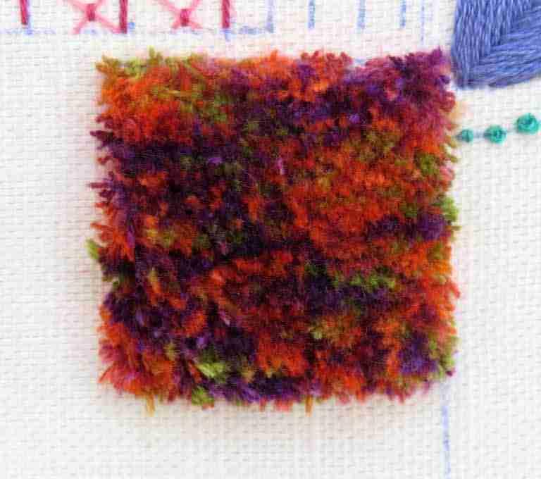 Turkey rug stitch square