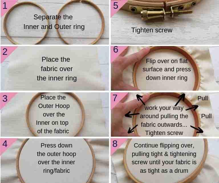 embroidery hoop guide