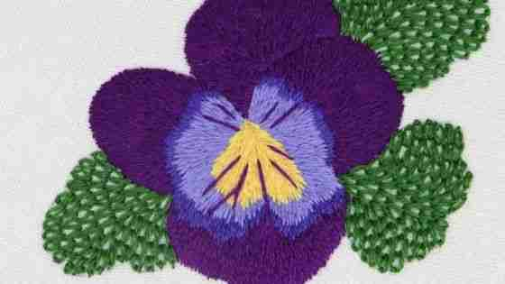 Violet Hand Embroidery Pattern