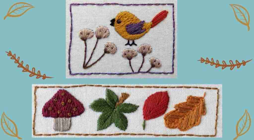hand embroidery bird