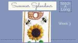 hand embroidered sunflower