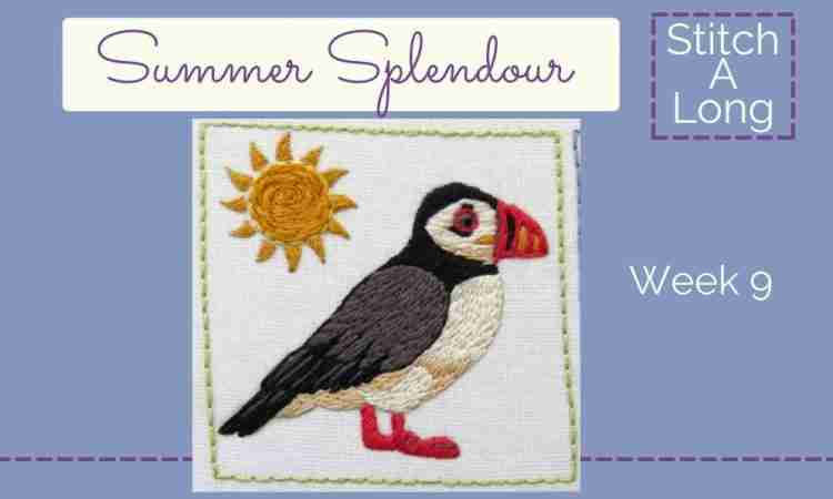 hand embroidered puffin