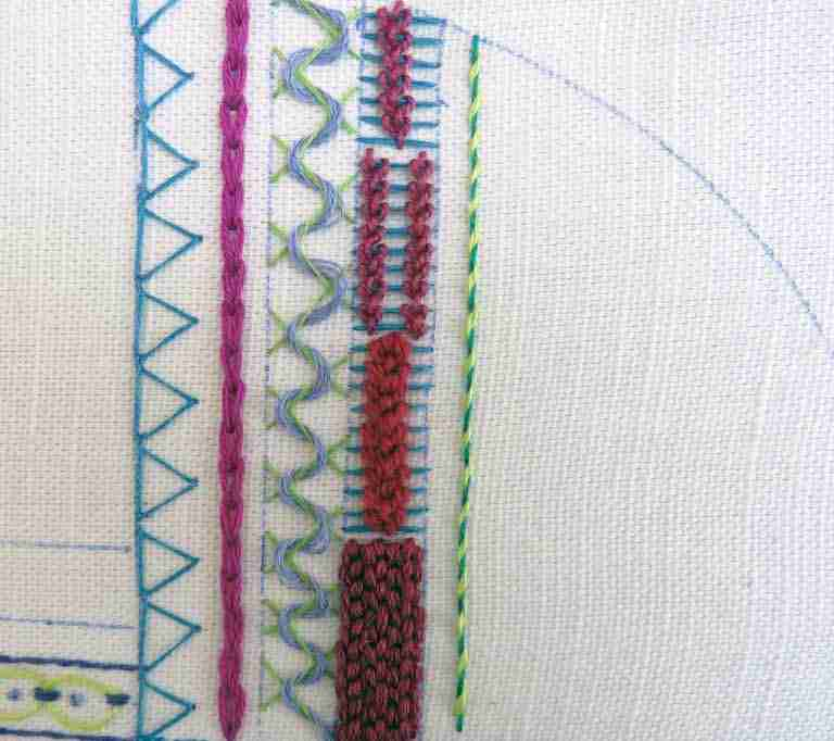 whipped back stitch.