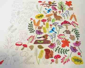 wildlife embroidery