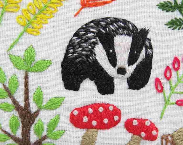 badger embroidery