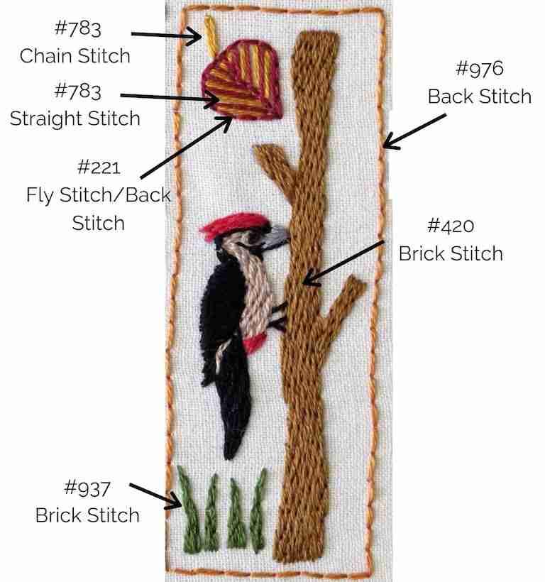 stitch guide for woodpecker